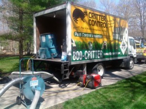 Critter Control attic clean out equipment